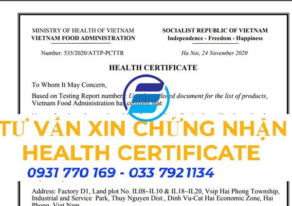 Đăng ký giấy chứng nhận y tế (HC) xuất khẩu hàng ở đâu Giá Tốt Nhất
