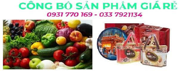 Công bố chất lượng trọn gói trái cây sấy nhập khẩu