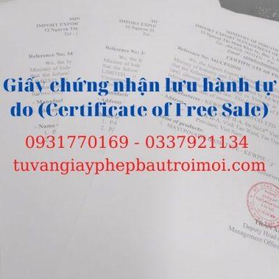 Dịch vụ tư vấn xin Certificate of Free Sale (CFS)