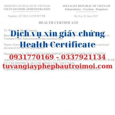 Dịch vụ chuyên xin làm chứng nhận y tế xuất khẩu trà