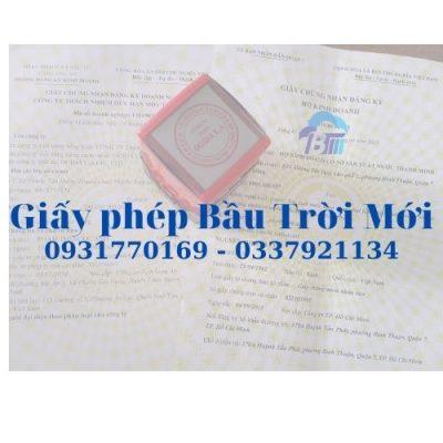 Dịch vụ thành lập địa điểm kinh doanh tại Sài Gòn